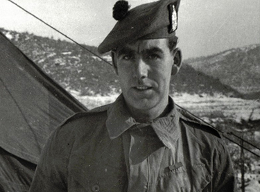 Bill Speakman as a soldier in Korea