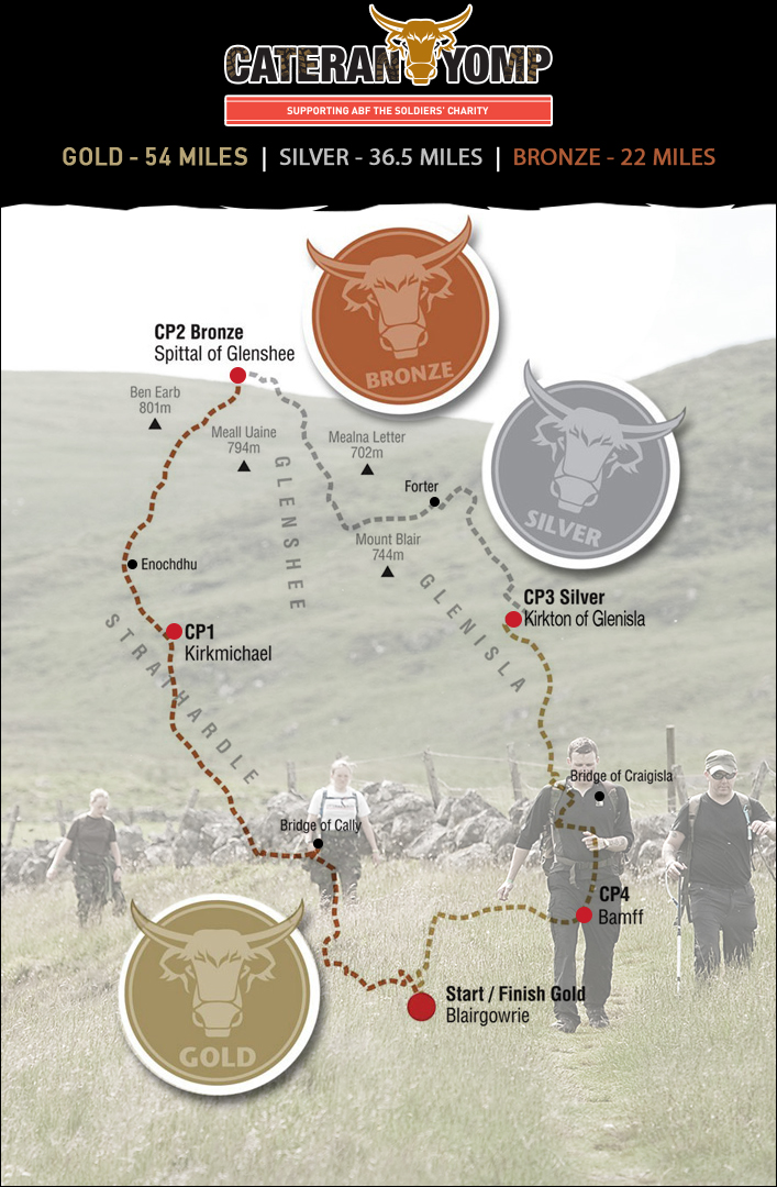 The Cateran Yomp route map