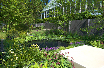 The No Man's Land garden at the 2014 RHS Chelsea Flower Show