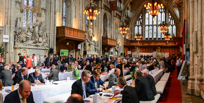 London Guildhall during the Lord Mayor's Big Curry