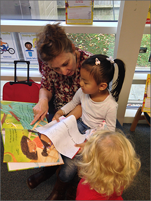 Reading Force reading to a child