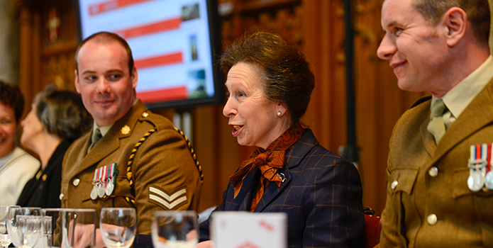 HRH The Princess Royal at the 2016 Lord Mayor's Big Curry
