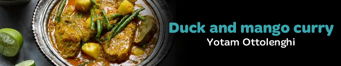 Yotam Ottolenghi's duck and mango curry