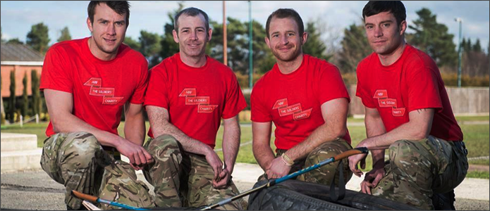 Soldiers fundraising for ABF The Soldiers' Charity