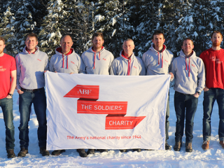 SPEAR17 with the ABF The Soldiers' Charity flag in Norway