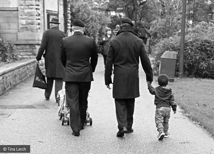 Veterans walking