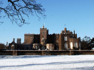 Powderham in the Snow