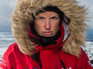 Kate Philp in the Antarctic