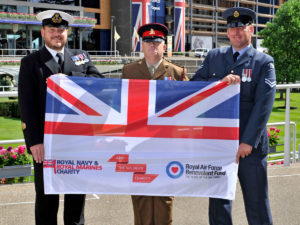 Tri-service flag at Ascot