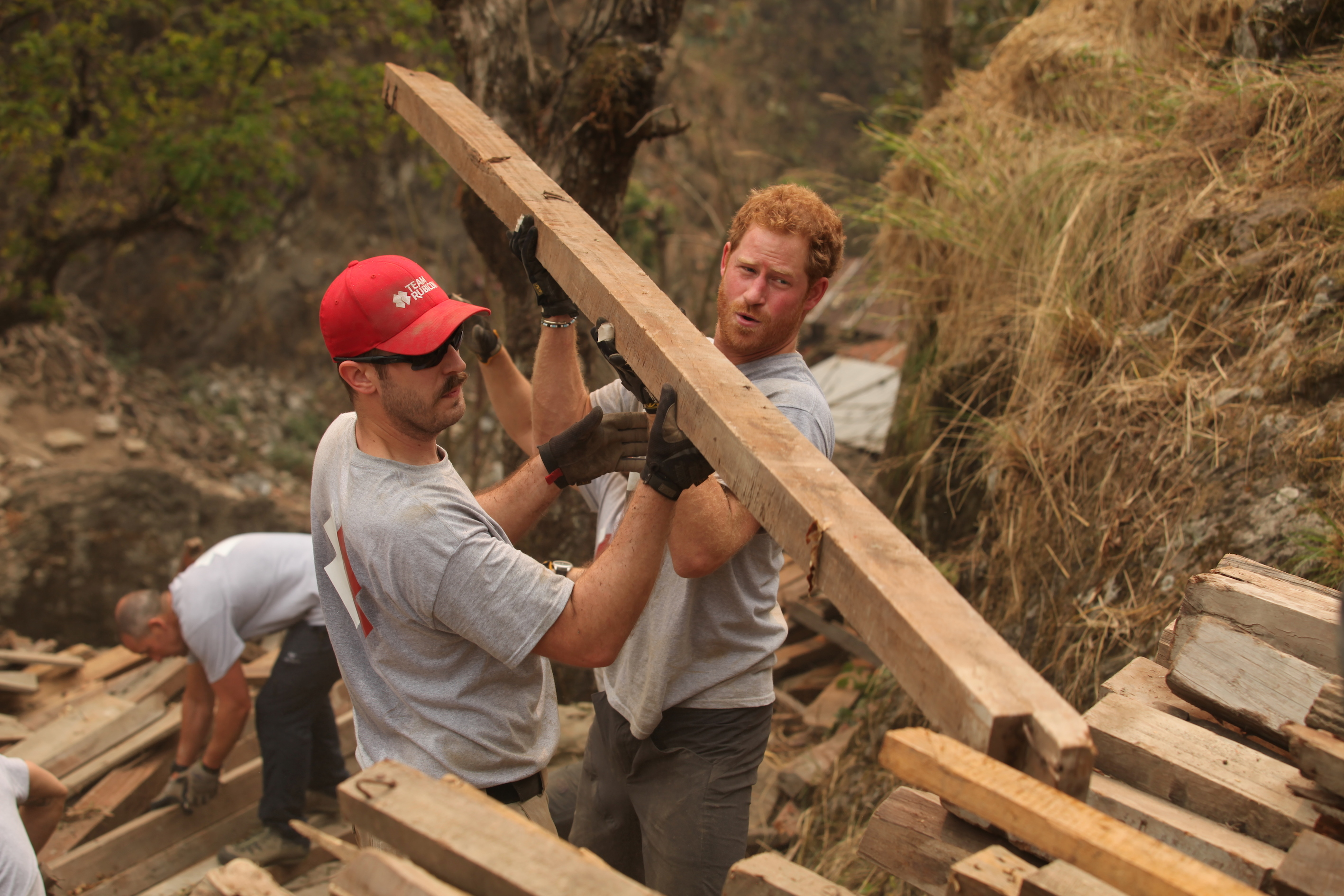 Prince Harry working for Team Rubicon,
