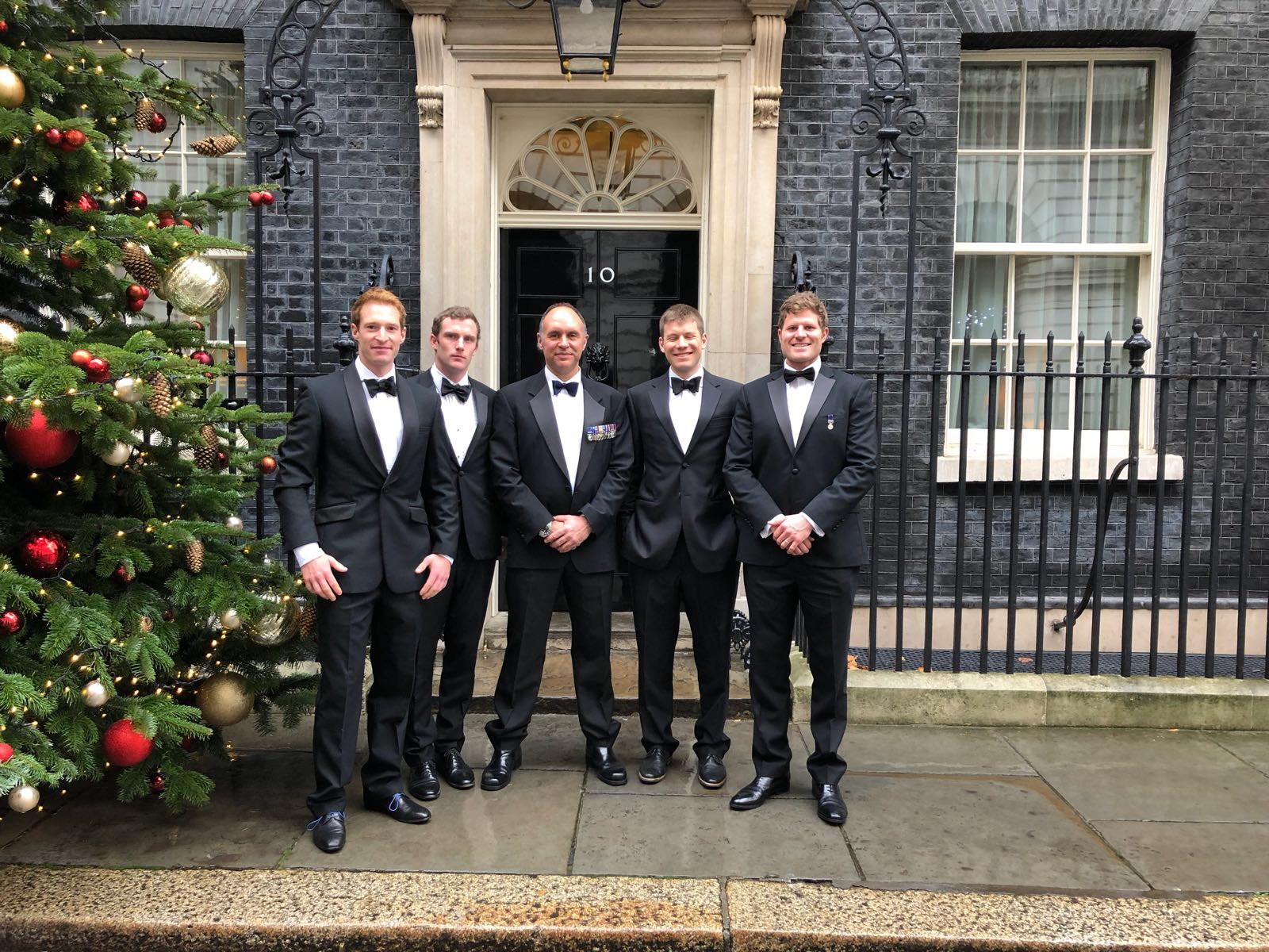 The SPEAR17 team outside Number 10 Downing Street before the Millies