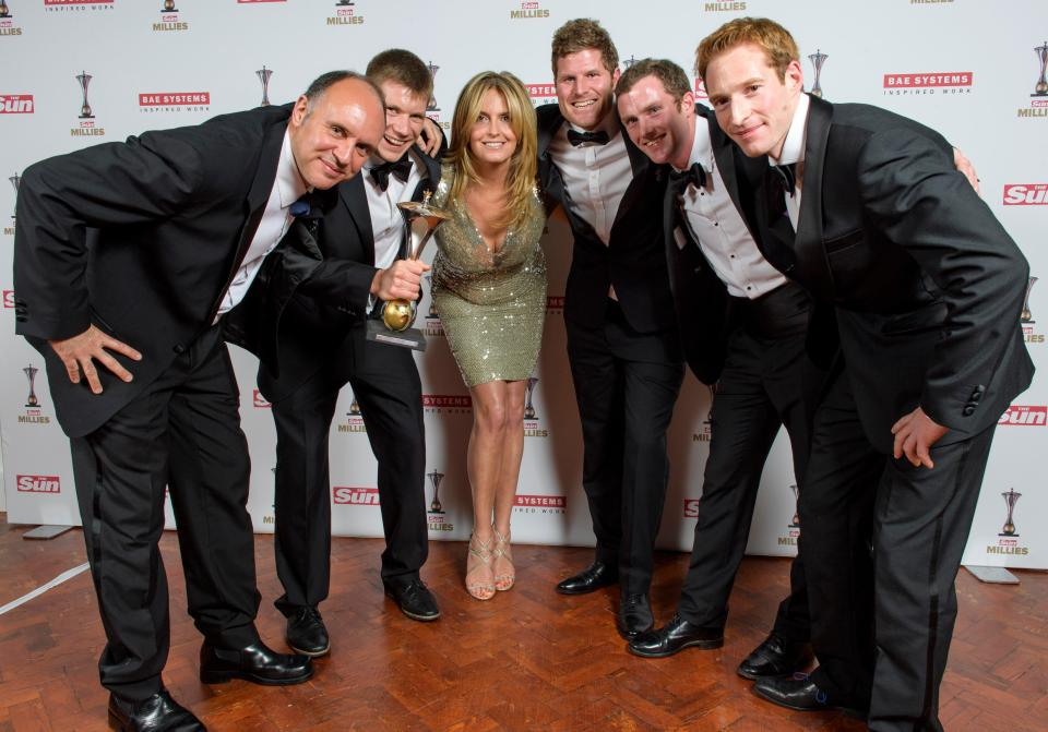 The SPEAR17 Team with their 'Inspiring Others' award and television star Penny Lancaster.