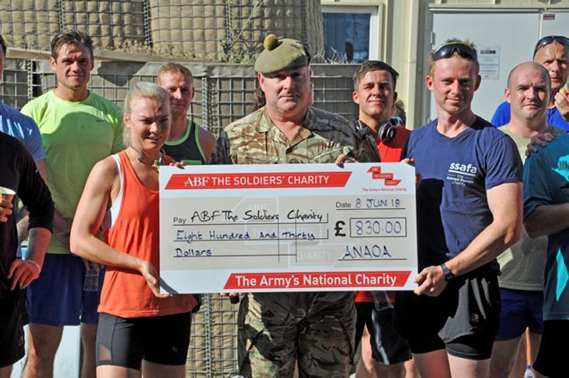 Troops in Afghanistan raise $830 for our charity